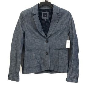 Gap Academy Chambray 2 Button Blazer